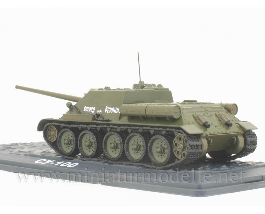 1:43 SU 100 sowjetische Jagdpanzer mit Zeitschrift #4