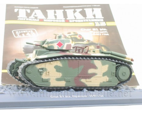 1:43 Char B1 bis French medium tank with magazine #15