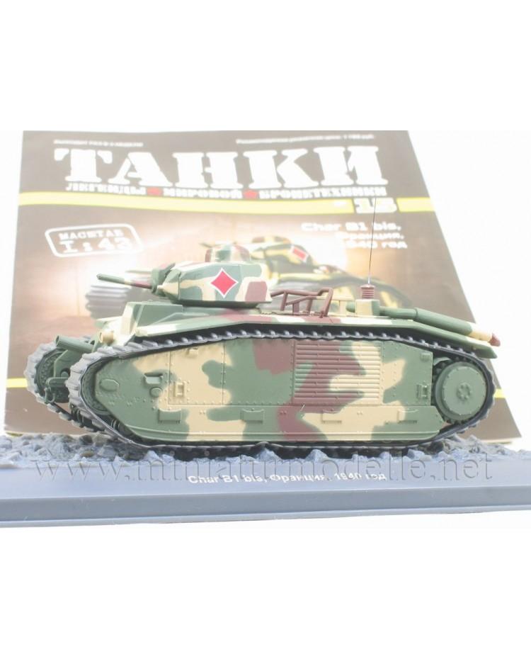 1:43 Char B1 bis Panzer mit Zeitschrift #15