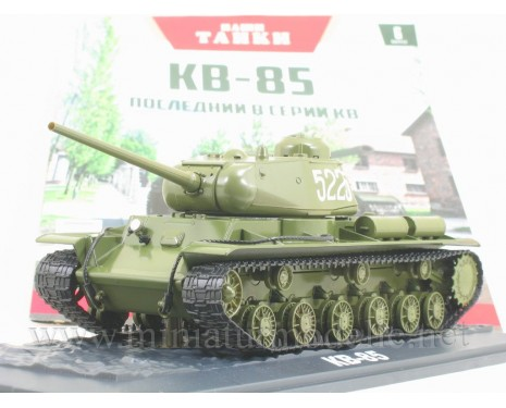 1:43 KV 85 Soviet heavy Kliment Voroshilov tank with magazine #6