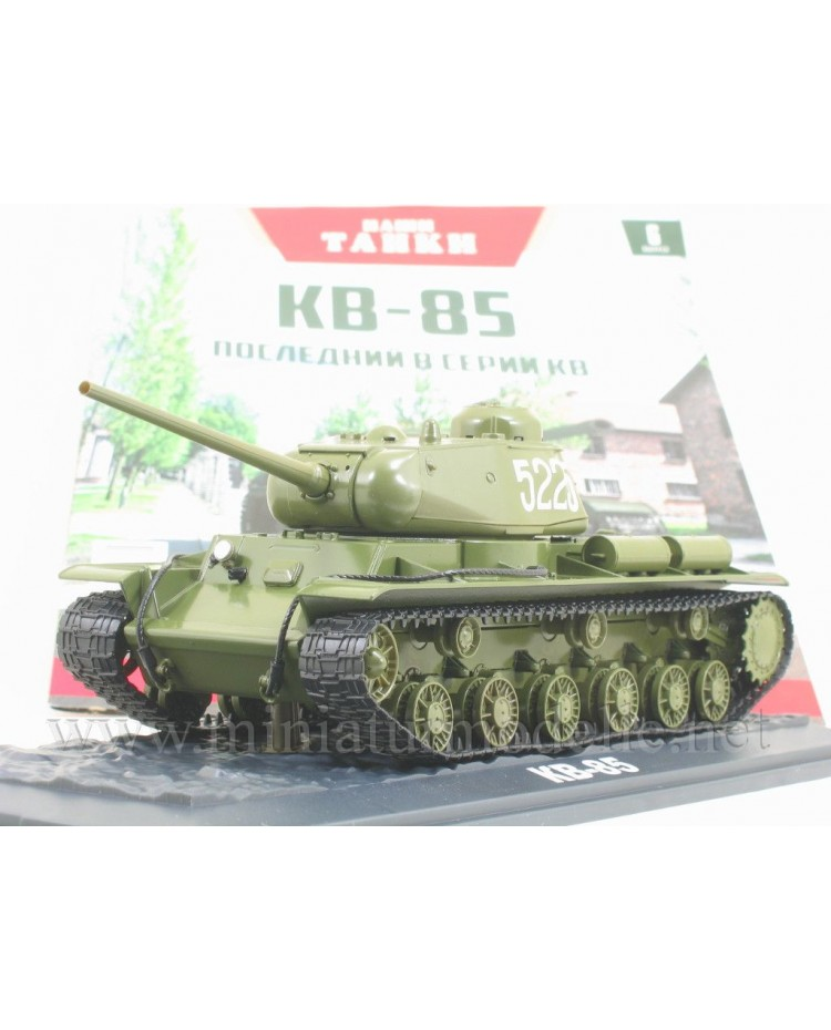 1:43 KW 85 schwerer sowjetischer Kampfpanzer Kliment Woroschilow mit Zeitschrift #6
