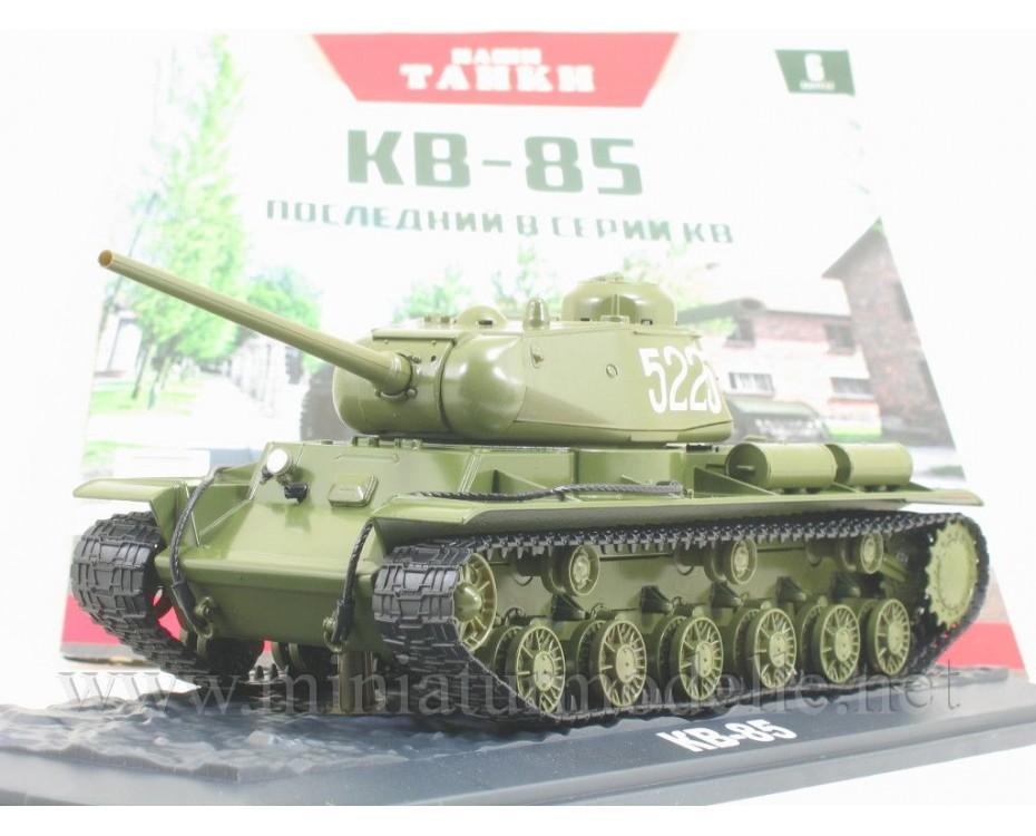 1:43 KV 85 Soviet heavy Kliment Voroshilov tank with magazine #6