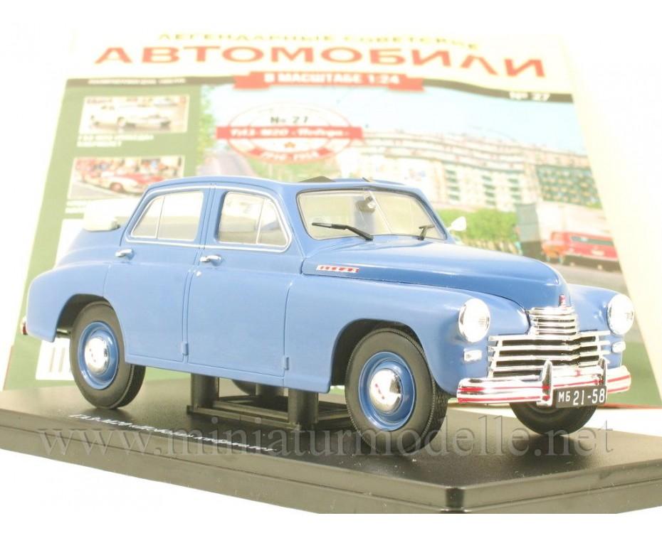 1:24 GAZ M20 Pobeda Cabrio with magazine #27