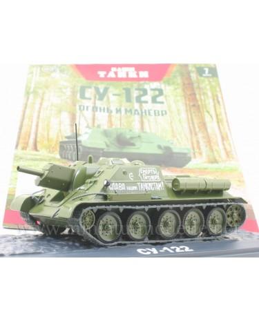 1:43 SU 122 Soviet self-propelled howitzer with magazine #7