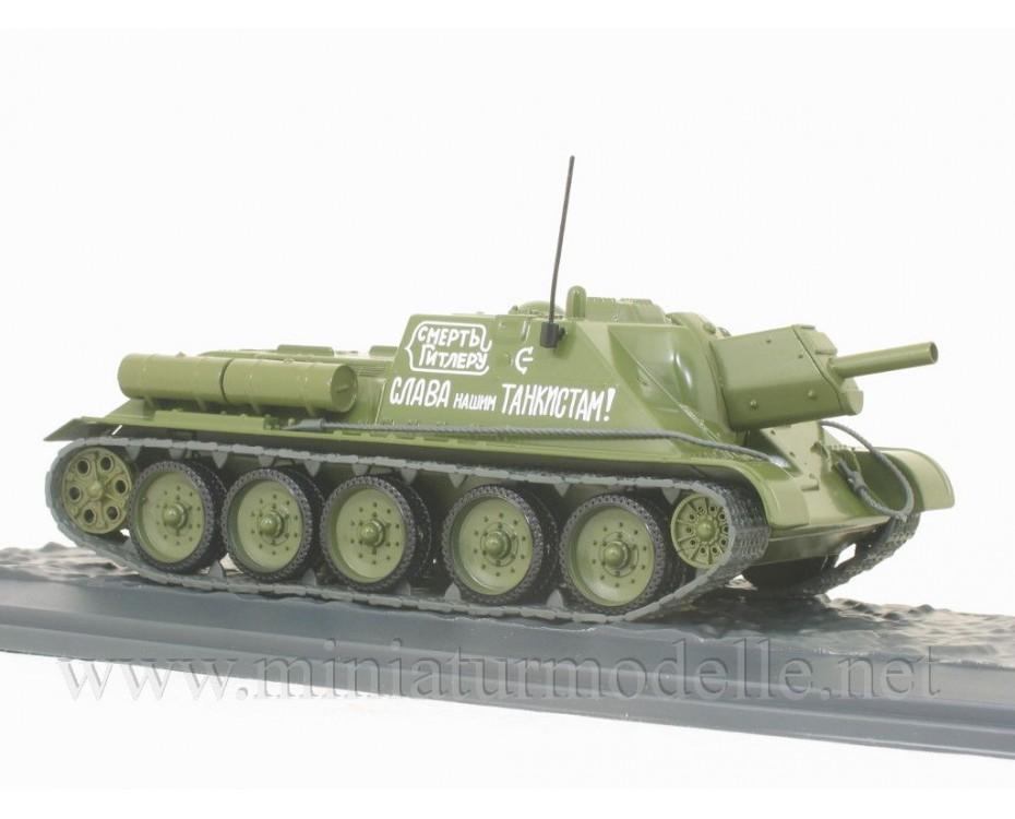 1:43 SU 122 Soviet self-propelled howitzer with magazine #7,  Modimio Collections by www.miniaturmodelle.net