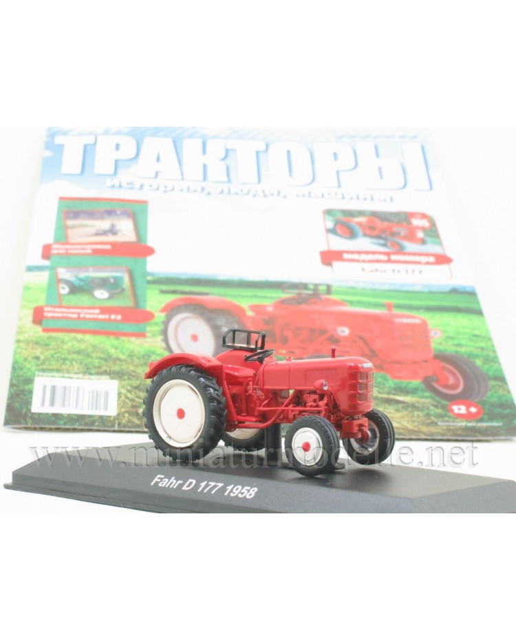 1:43 Fahr D 177 1958 tractor with magazine #105