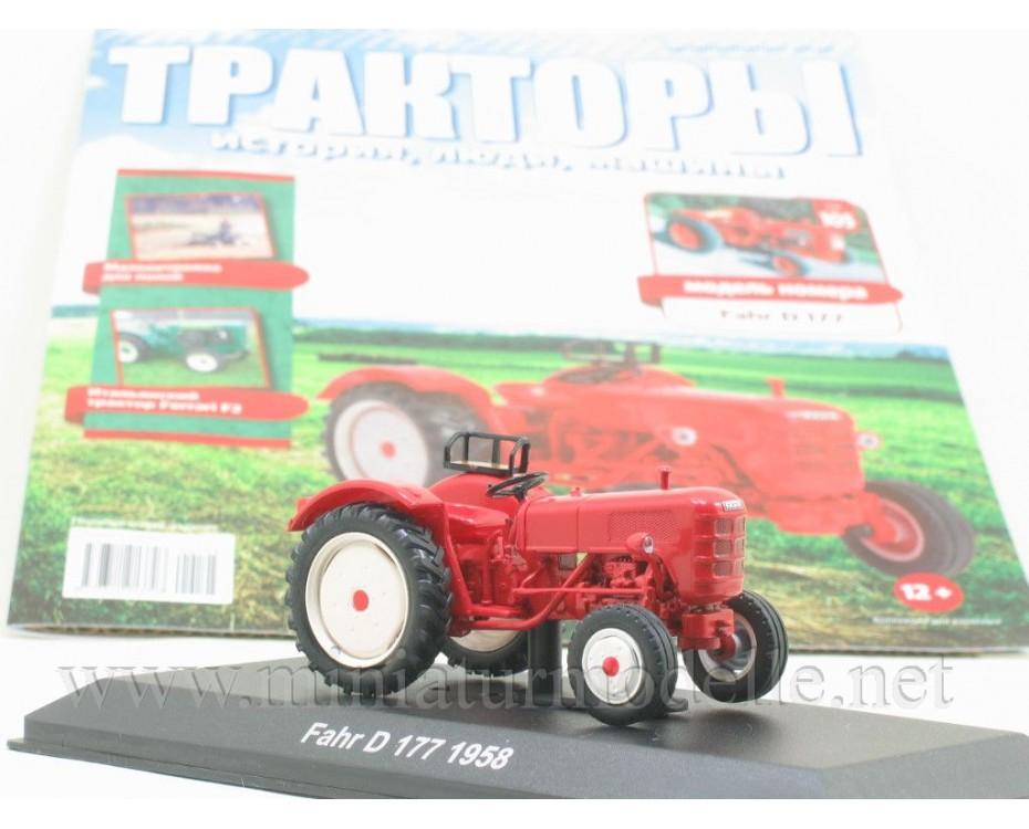 1:43 Fahr D 177 1958 Traktor mit Zeitschrift #105