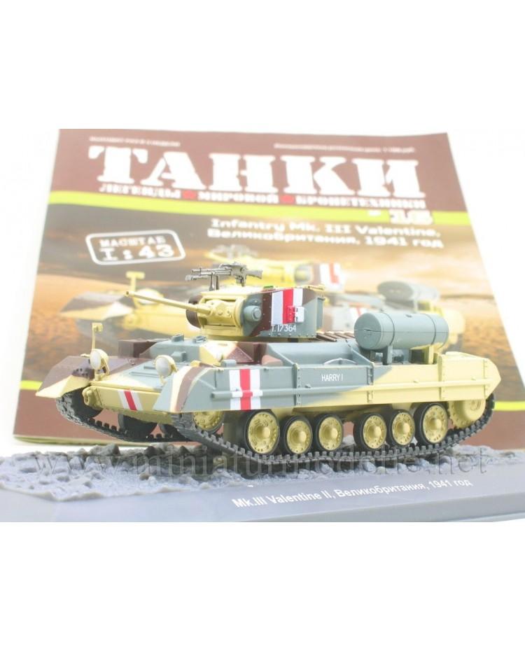 1:43 Infantry Mk III Valentine Panzer mit Zeitschrift #16