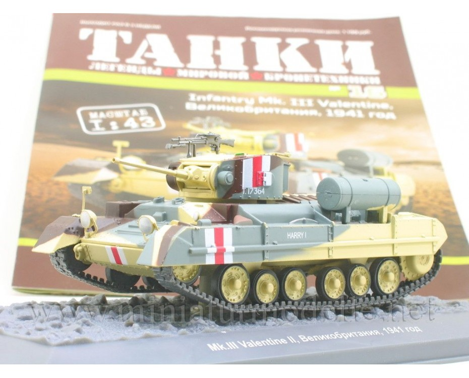 1:43 Infantry Mk III Valentine tank with magazine #16