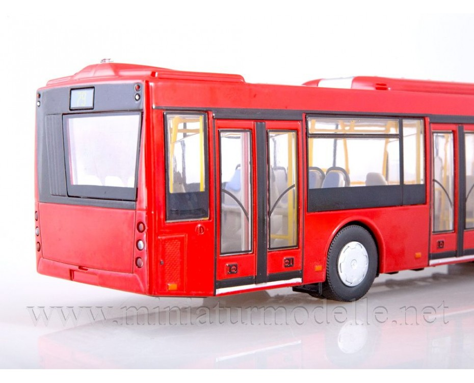1:43 MAZ-203 City bus, red