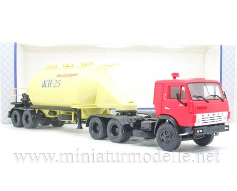 1:43 KAMAZ 54112 tractor unit with silo trailer ASP-25