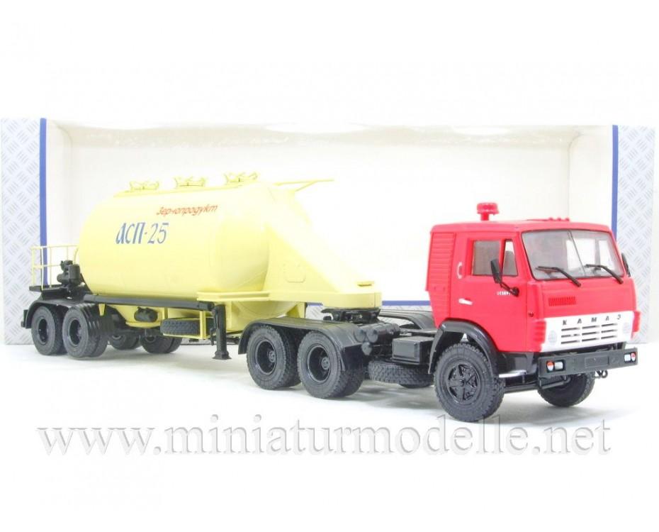 1:43 KAMAZ 54112 tractor unit with silo trailer ASP-25