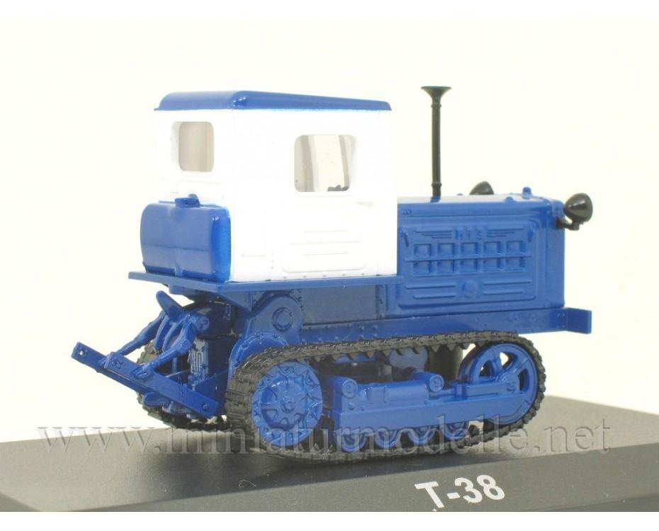 1:43 T-38 Crawler tractor with magazine #107,  Hachette by www.miniaturmodelle.net
