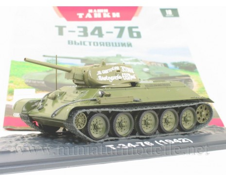 1:43 T-34-76 Soviet medium tank with magazine #10