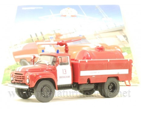 1:43 ZIL-130 dry powder fire fighting truck AP-3-148A with magazine #46