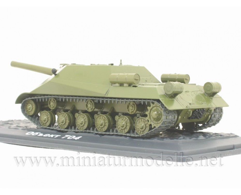 1:43 Object 704 Soviet self-propelled howitzer military with magazine #11,  Modimio Collections by www.miniaturmodelle.net