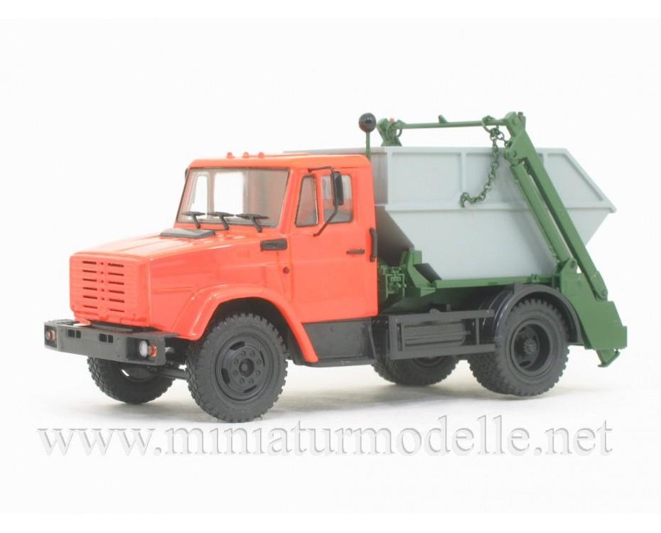 1:43 ZIL-4333 skip lorry KO-450