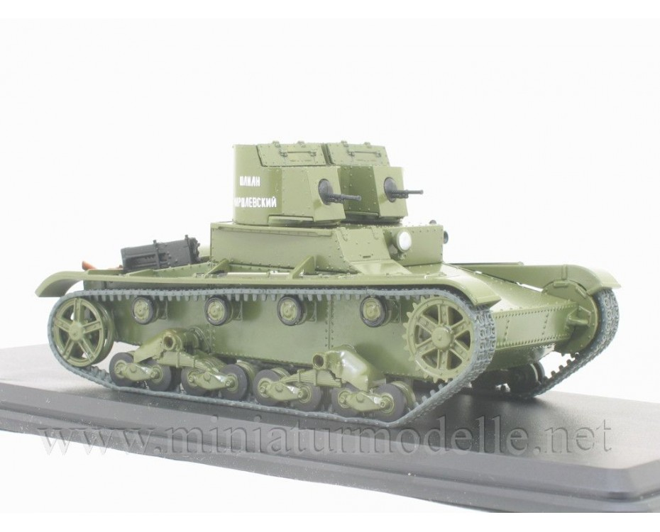 1:43 T-26 (1931) Soviet light infantry tank with magazine #13,  Modimio Collections by www.miniaturmodelle.net