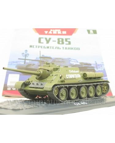 1:43 SU-85 Soviet tank destroyer with magazine #15