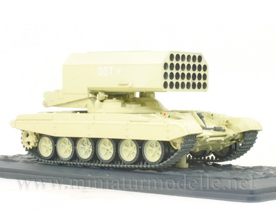 1:43 TOS-1 multiple rocket launcher on a T-72 tank chassis with magazine #14,  Modimio Collections by www.miniaturmodelle.net