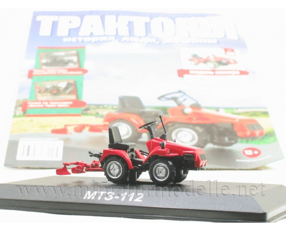 1:43 MTZ 112 Belarus mini tractor with magazine #113