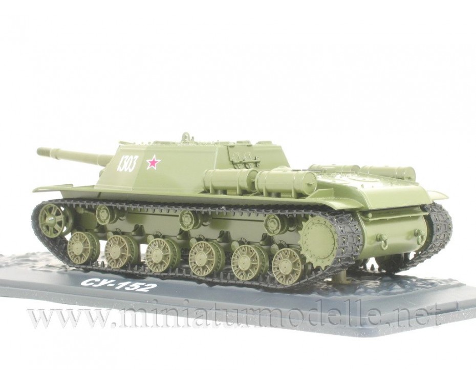 1:43 SU-152 Soviet self-propelled heavy howitzer military with magazine #17