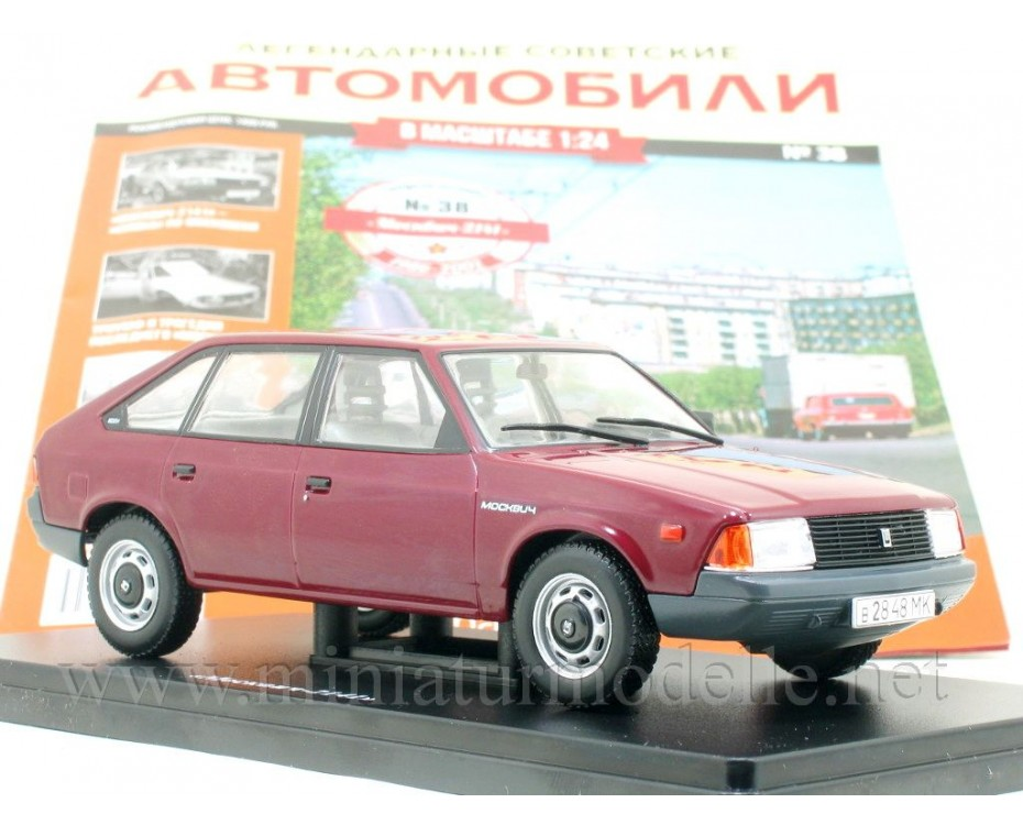 1:24 Moskvitch 2141 with magazine #38