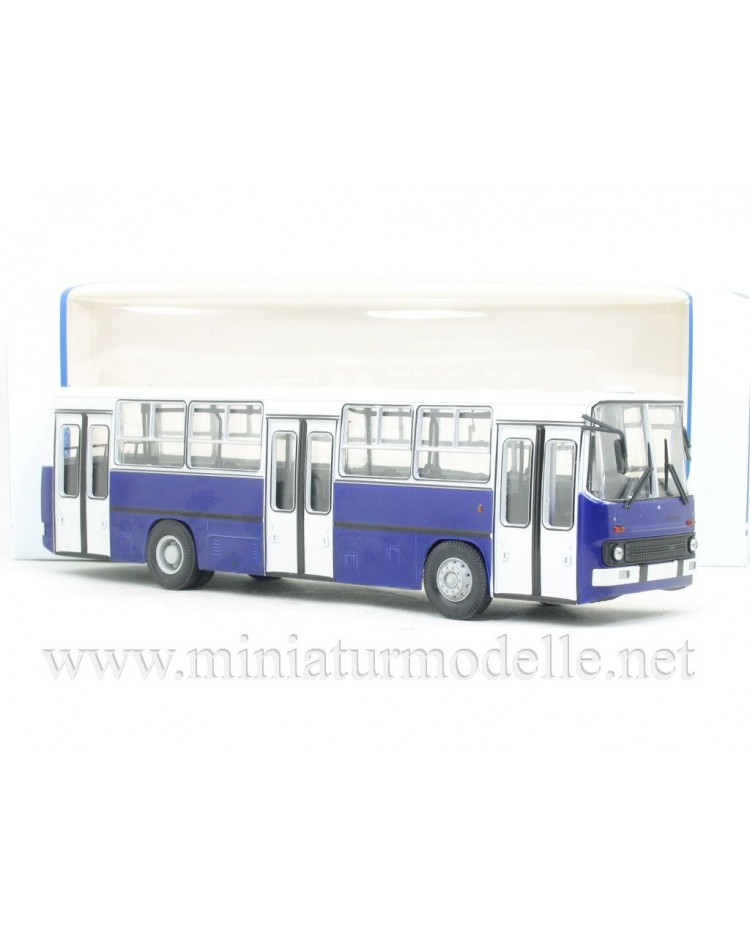 1:43 IKARUS-260 bus wide doors Budapest white-navy blue