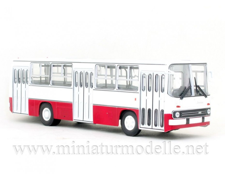 1:43 IKARUS-260 bus white - red