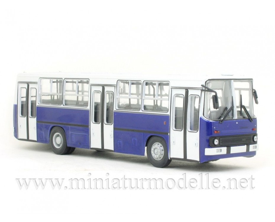 1:43 IKARUS-260 bus wide doors Budapest white-navy blue