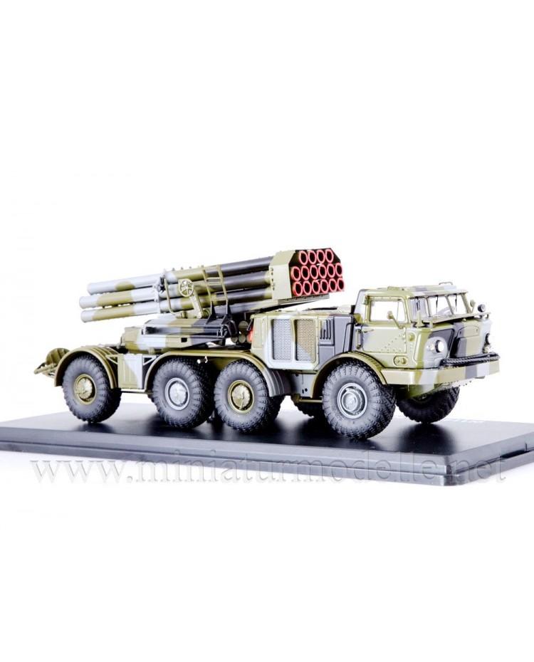1:43 ZIL-135 LM BM-27 9P140 Uragan self-propelled multiple rocket launcher system, military