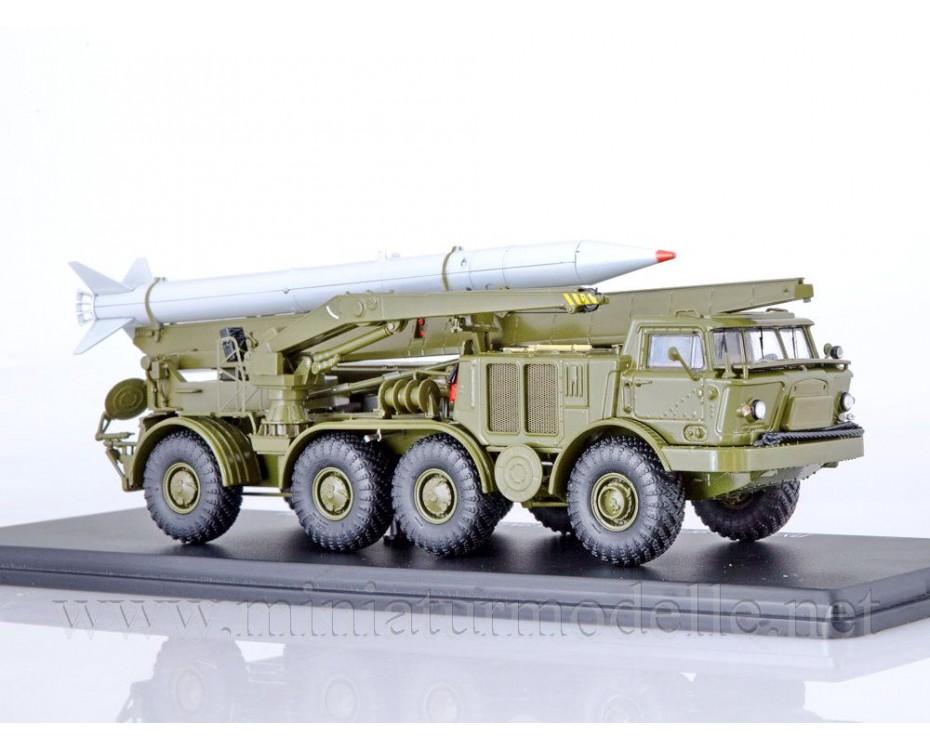 1:43 ZIL-135 LM 9P113 TEL Luna-M (FROG-7) short-range artillery rocket system with 9M21 rocket , military