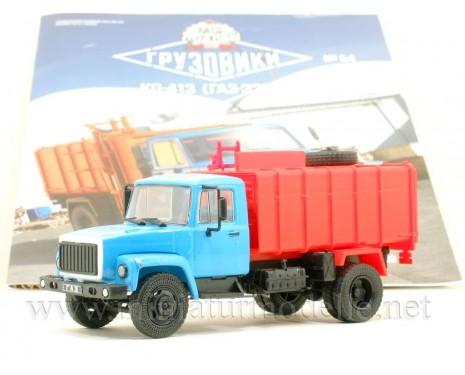1:43 GAZ-3307 Garbage truck KO 413 with magazine #54