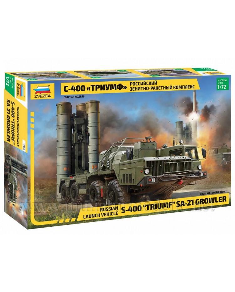 1:72 S 400 Triumf SA-21 Growler anti-aircraft weapon system, kit