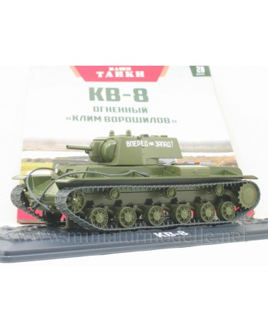 1:43 KV-8 Fire-throwing tank with magazine #20, military