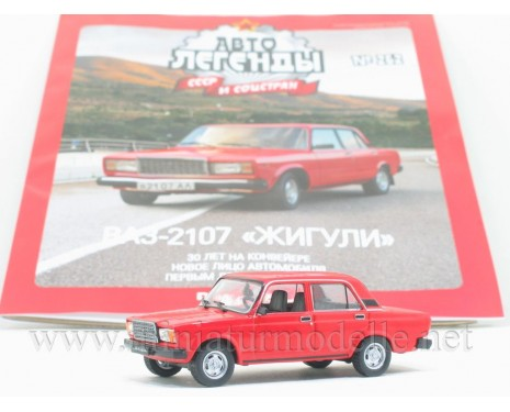 1:43 VAZ 2107 Lada with magazine #262