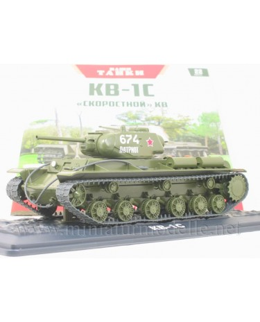 1:43 KV-1S Soviet heavy Kliment Voroshilov tanks with magazine #22