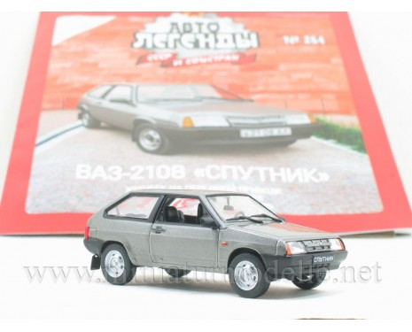1:43 VAZ 2108 Sputnik Lada with magazine #264