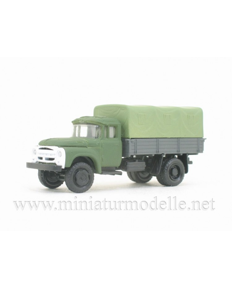 H0 1:87 ZIL 130 truck with canvas, military