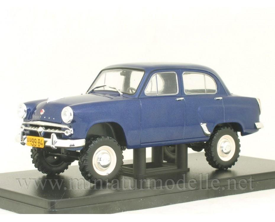 Moskvich-410 dark blue Scale car 1:24