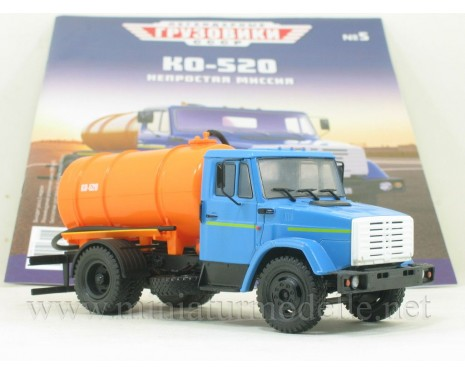 1:43 ZIL 4333 vacum truck KO-520 with magazine #5