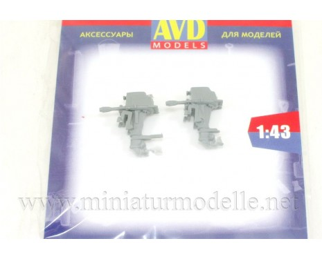 1:43 Outboard motor Vihr (2 pcs.), small batches kit