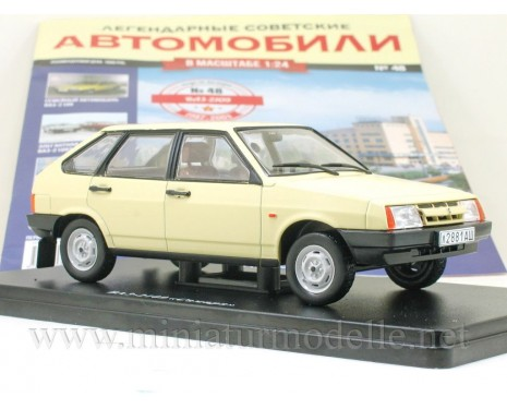 1:24 VAZ 2109 Lada Samara with magazine #48