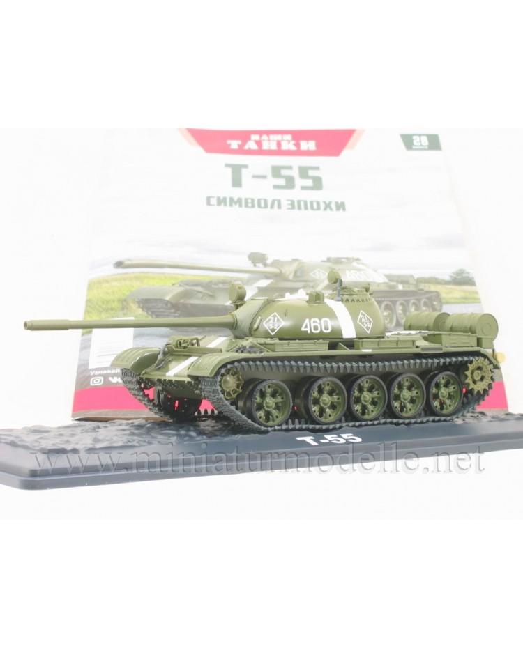 1:43 T 55 Soviet main battle tank with magazine #28