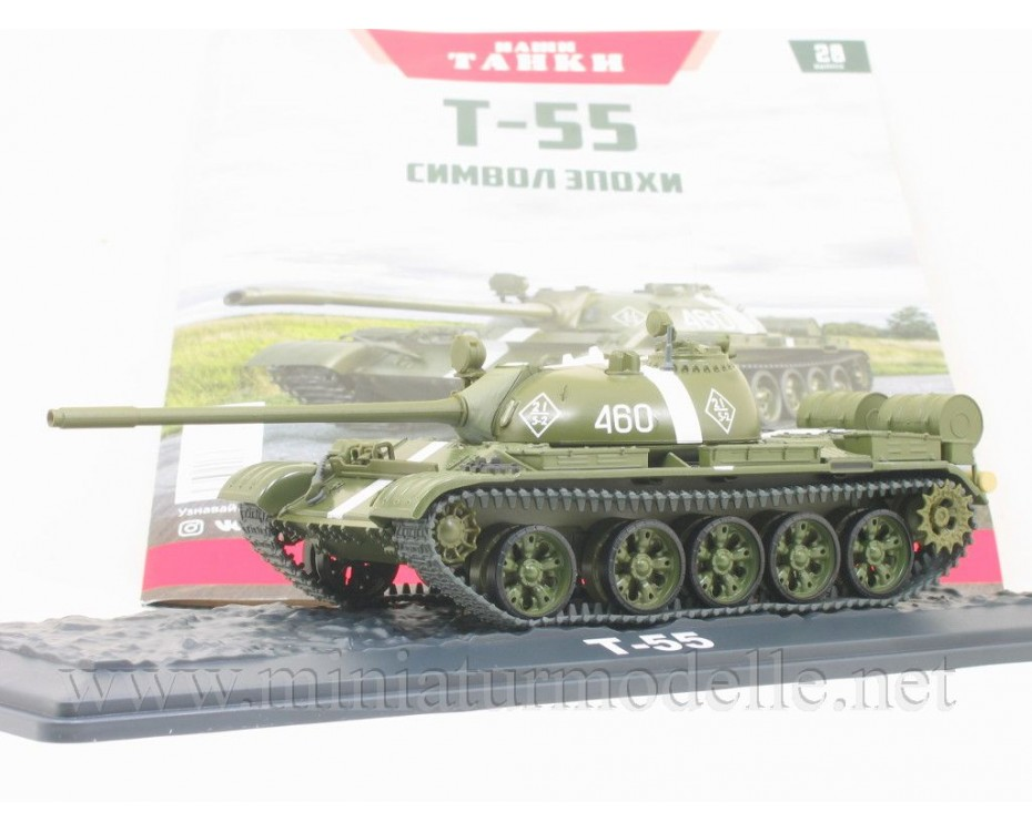 1:43 T 55 Soviet main battle tank with magazine #28