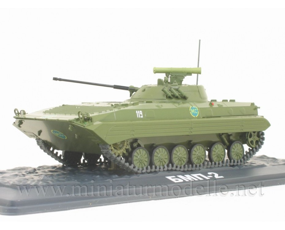 1:43 BMP 2 Soviet amphibious tracked infantry fighting vehicle with magazine #29