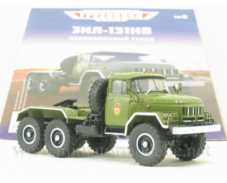 1:43 ZIL 131 NV tractor unit military with magazine #8,  Modimio Collections by www.miniaturmodelle.net