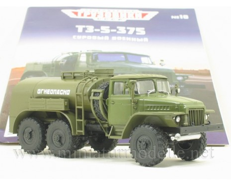 1:43 URAL 375 tank truck TZ-5 military with magazine #10