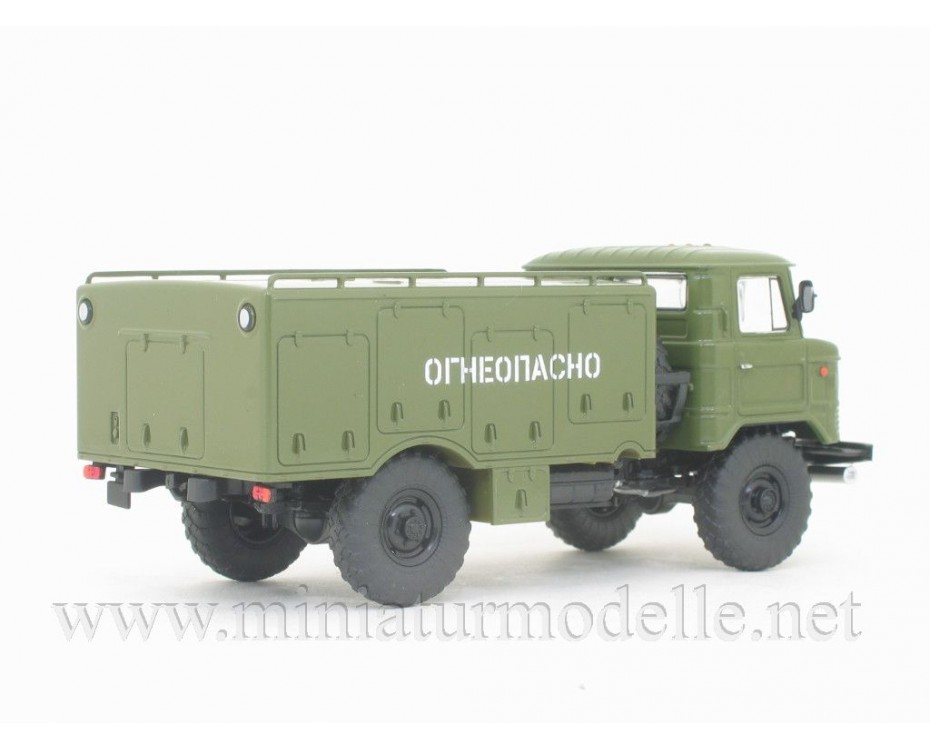 1:43 GAZ 66 aircraft spirit and water refueling truck VSZ military with magazine #11,  Modimio Collections by www.miniaturmodelle.net