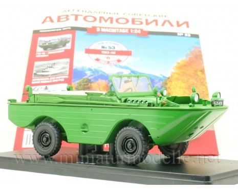 1:24 GAZ 46 four-wheel drive amphibious military vehicle with magazine #53